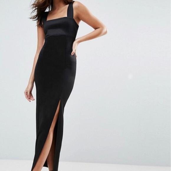 ASOS Dresses & Skirts - ASOS square neck maxi dress with slit